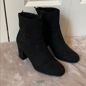 Old Navy Faux Suede Black Booties